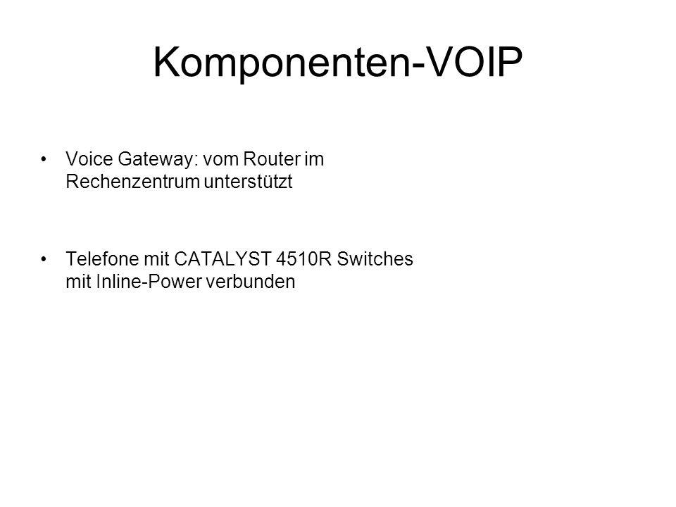 Komponenten-VOIPVoice Gateway: vom Router im Rechenzentrum unterstützt.