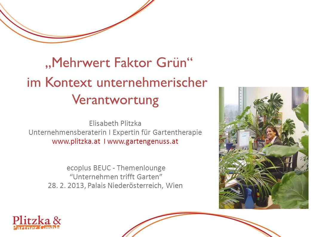 """""""Mehrwert Faktor Grün"""