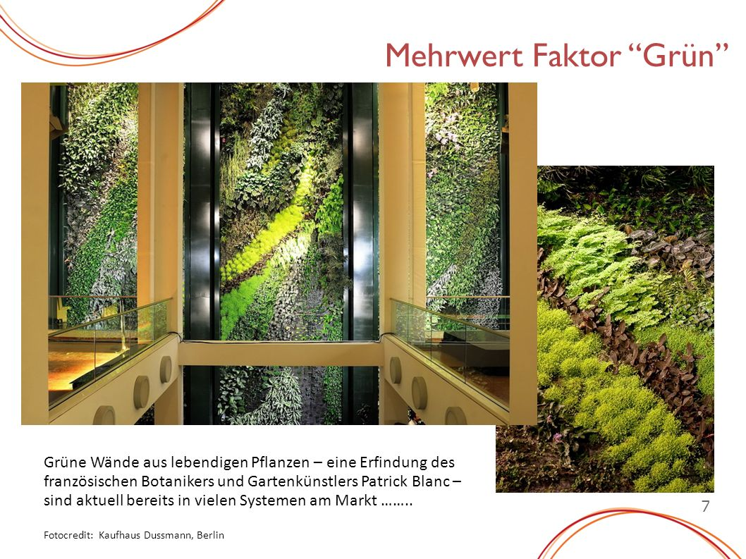 Mehrwert Faktor Grün