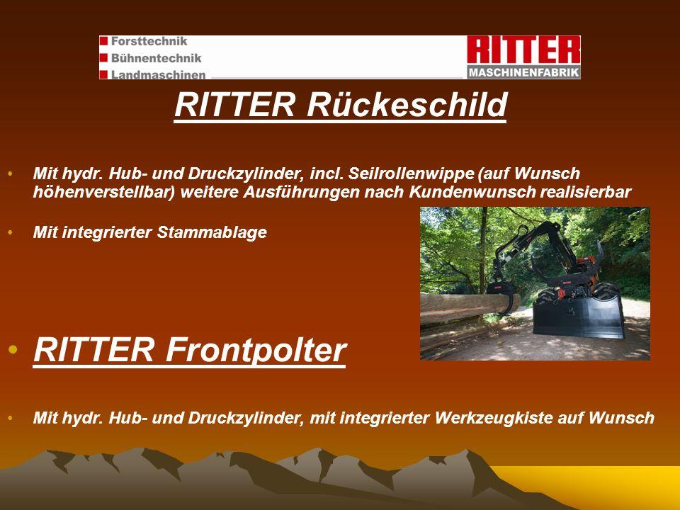RITTER Rückeschild RITTER Frontpolter