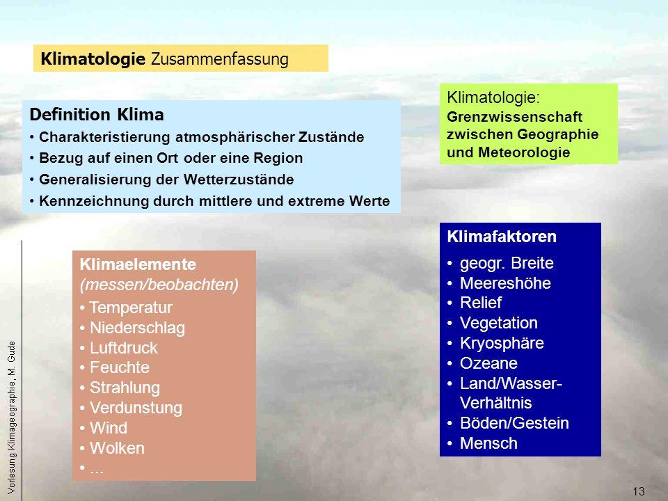 Klimatologie Zusammenfassung