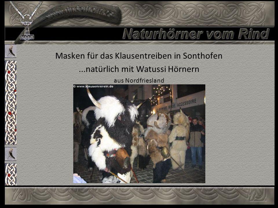 Masken für das Klausentreiben in Sonthofen