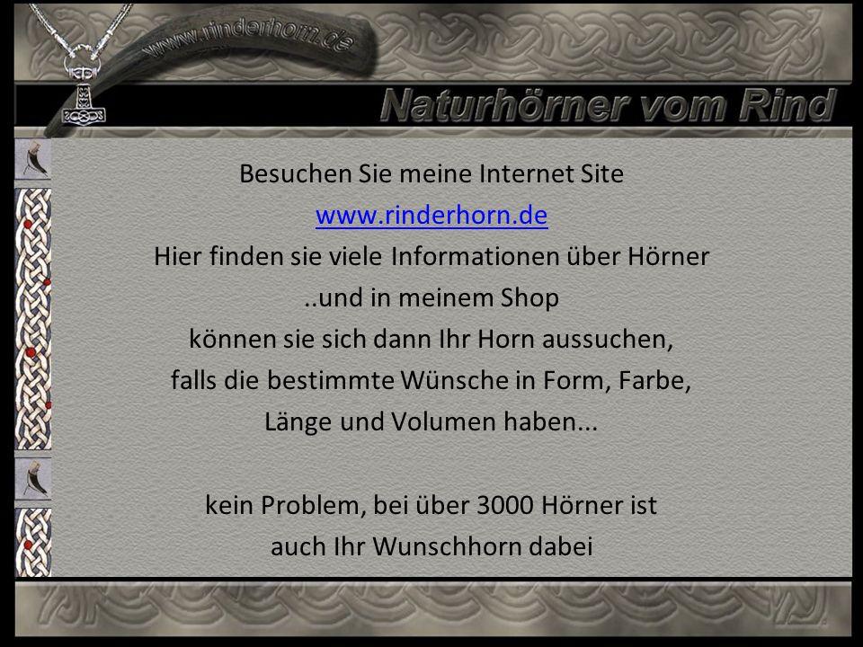 Besuchen Sie meine Internet Site www.rinderhorn.de