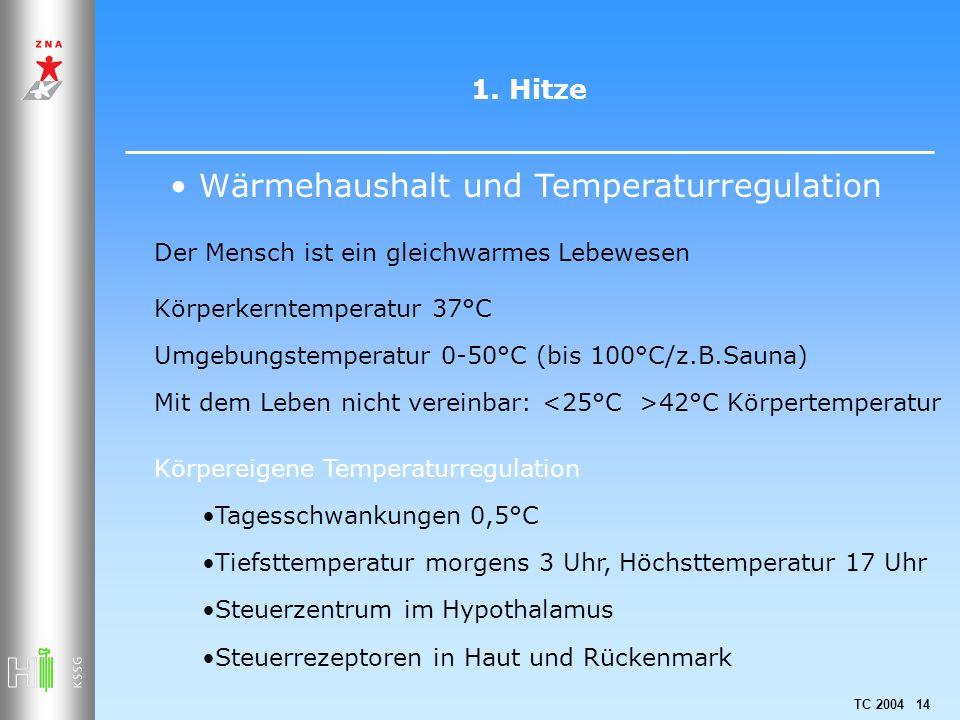Wärmehaushalt und Temperaturregulation