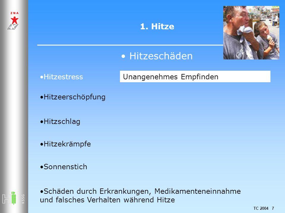 Hitzeschäden 1. Hitze Hitzestress Unangenehmes Empfinden