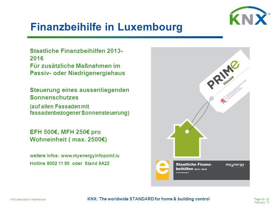 Finanzbeihilfe in Luxembourg