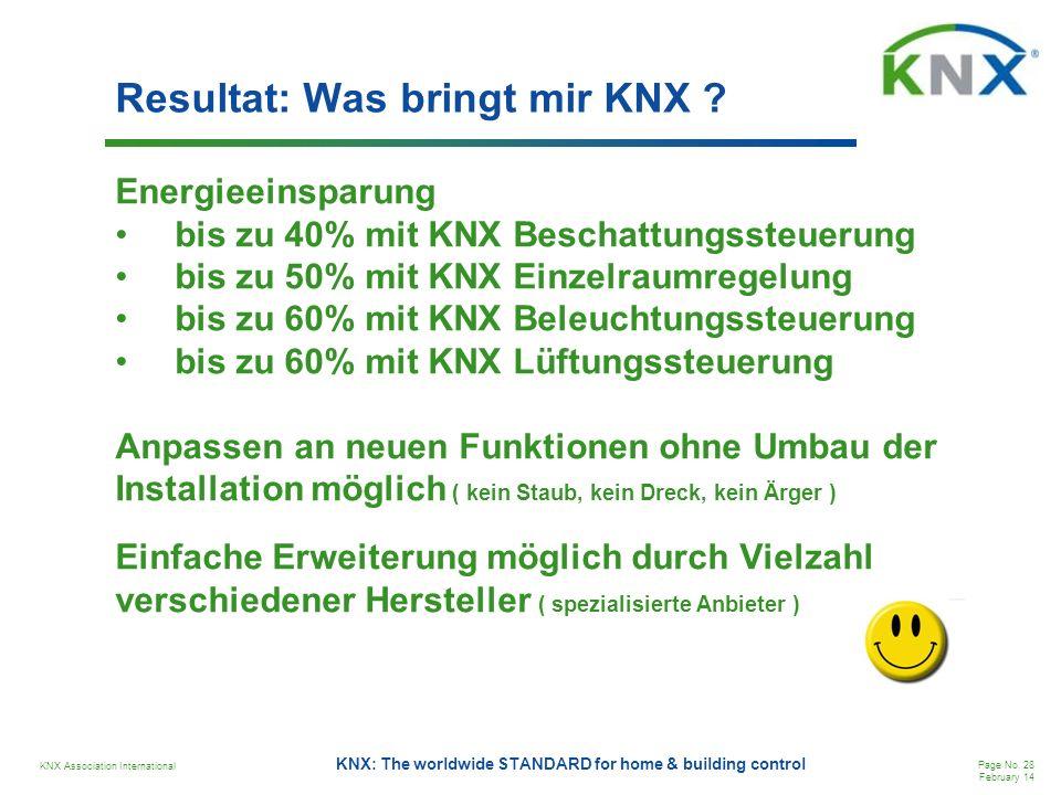 Resultat: Was bringt mir KNX