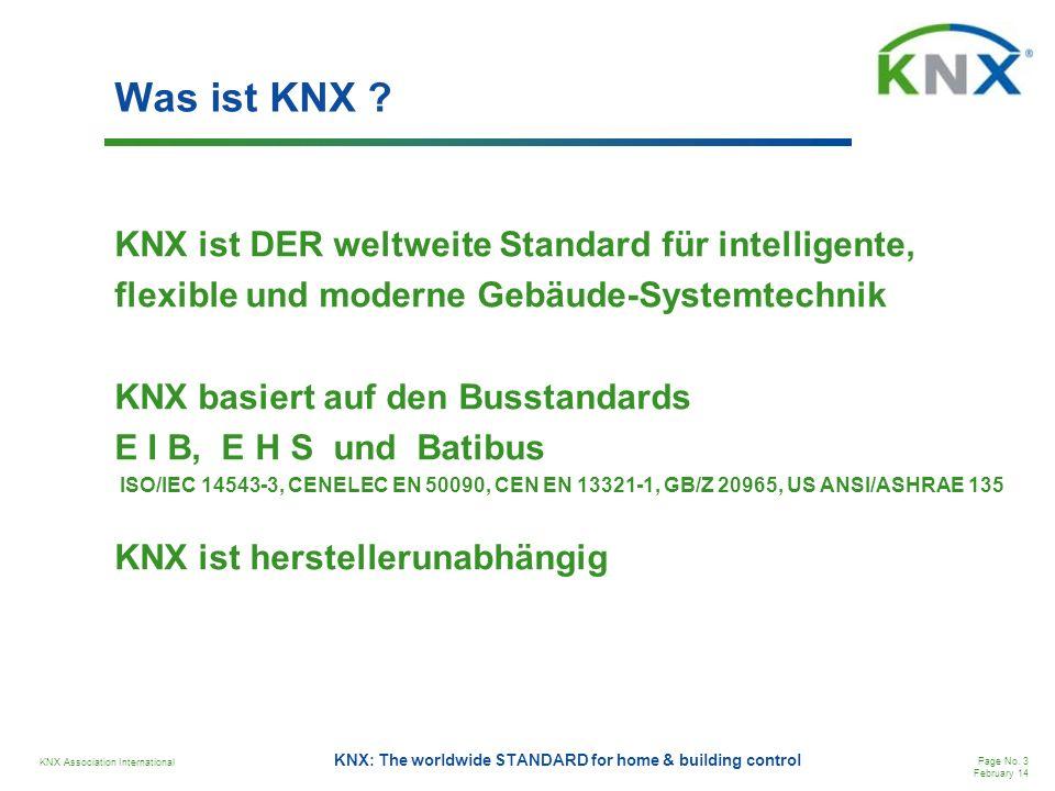 Was ist KNX KNX ist DER weltweite Standard für intelligente,