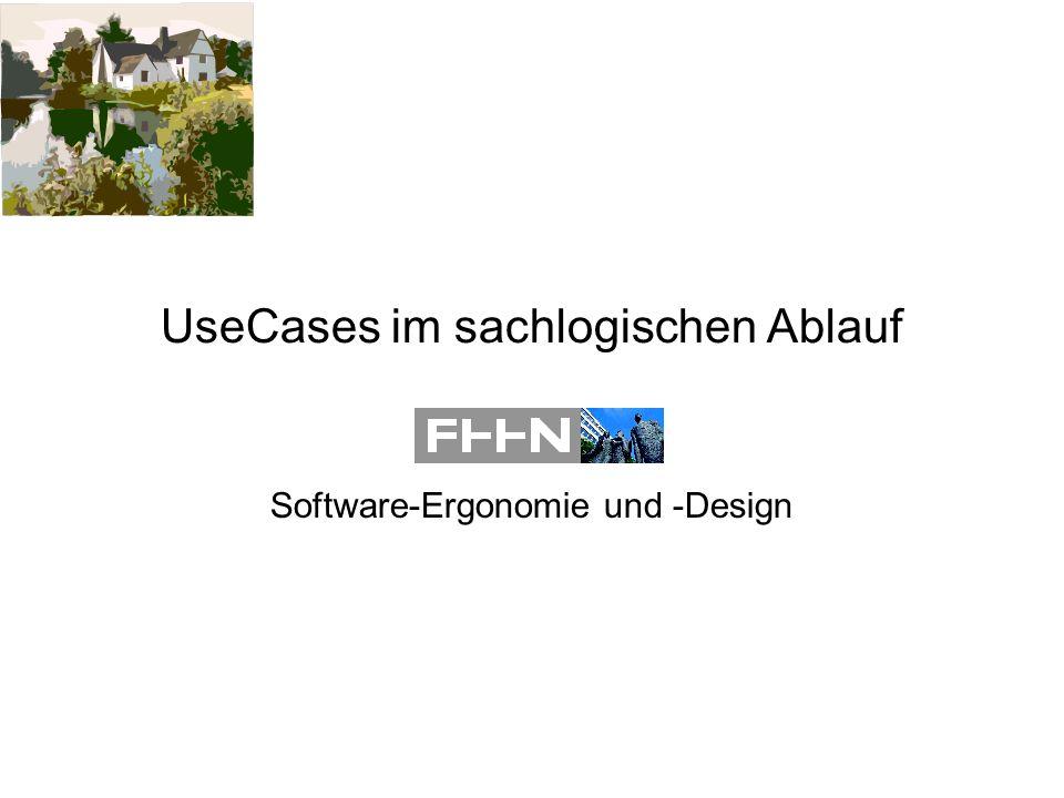 UseCases im sachlogischen Ablauf