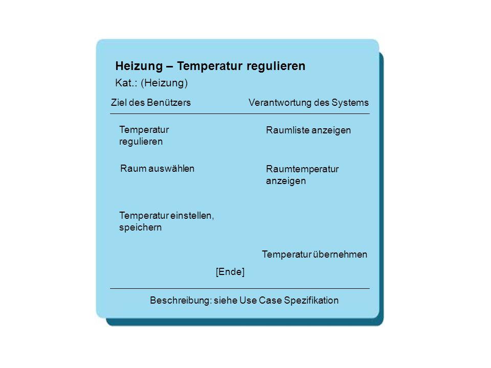 Heizung – Temperatur regulieren