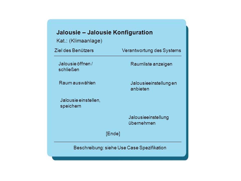 Jalousie – Jalousie Konfiguration