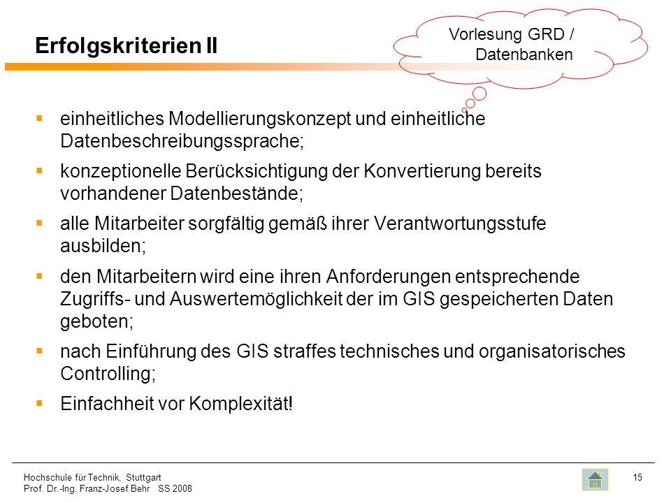Vorlesung GRD / Datenbanken