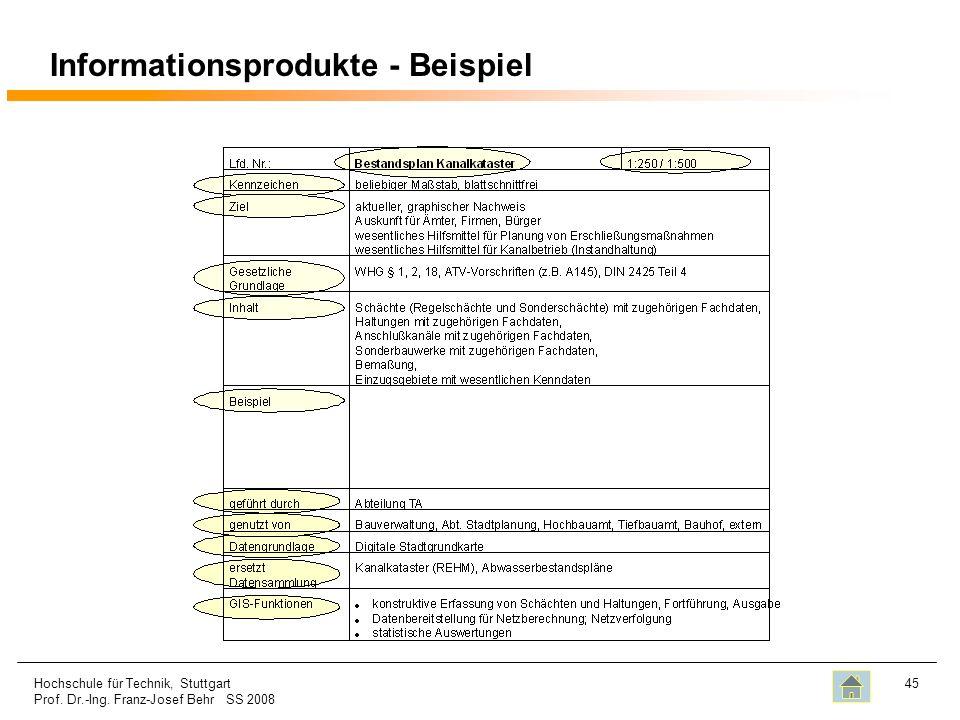 Informationsprodukte - Beispiel