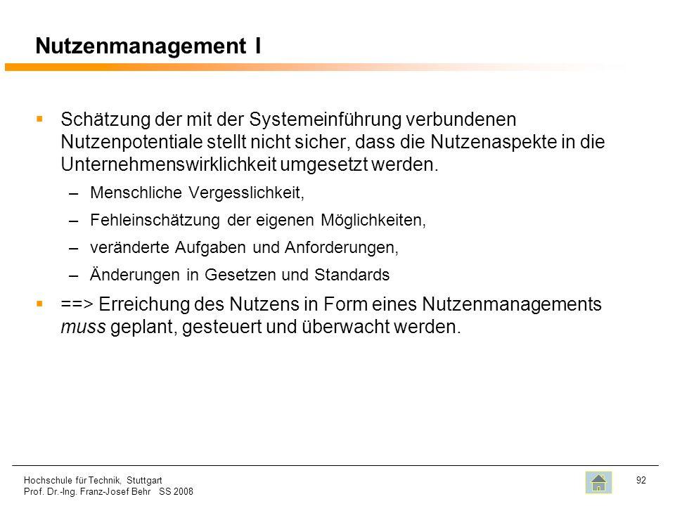 Nutzenmanagement I