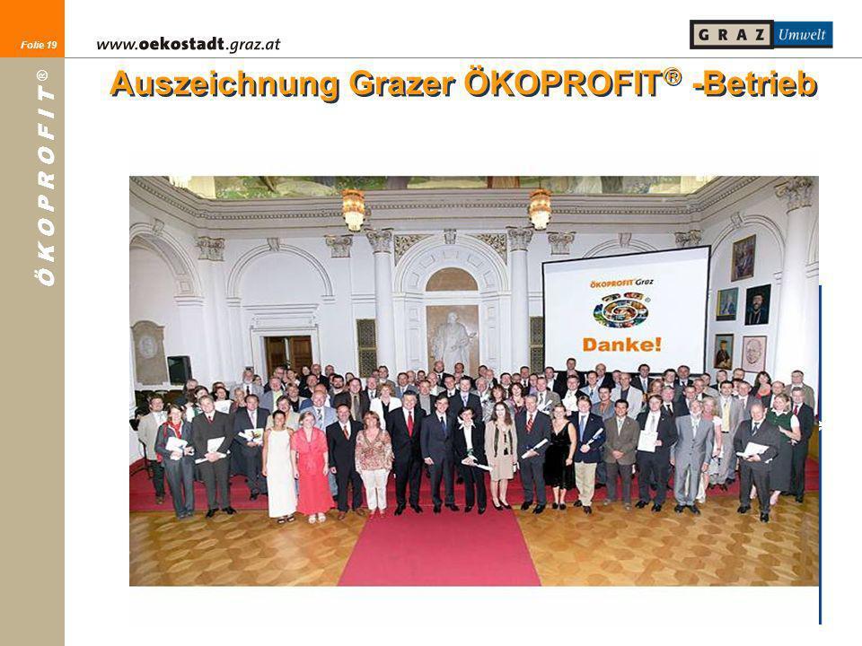 Auszeichnung Grazer ÖKOPROFIT -Betrieb