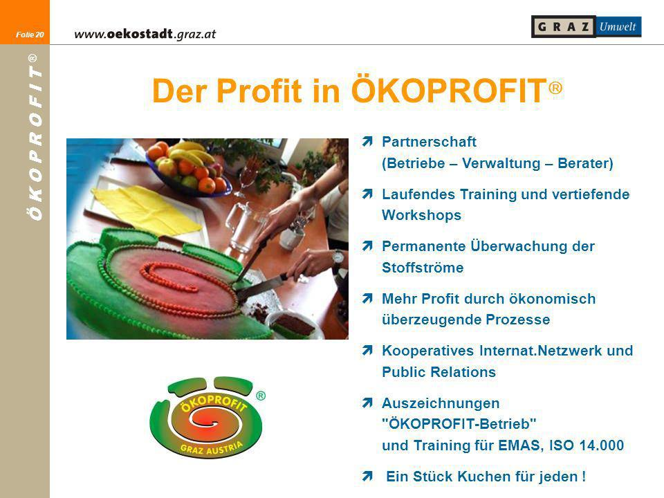Der Profit in ÖKOPROFIT