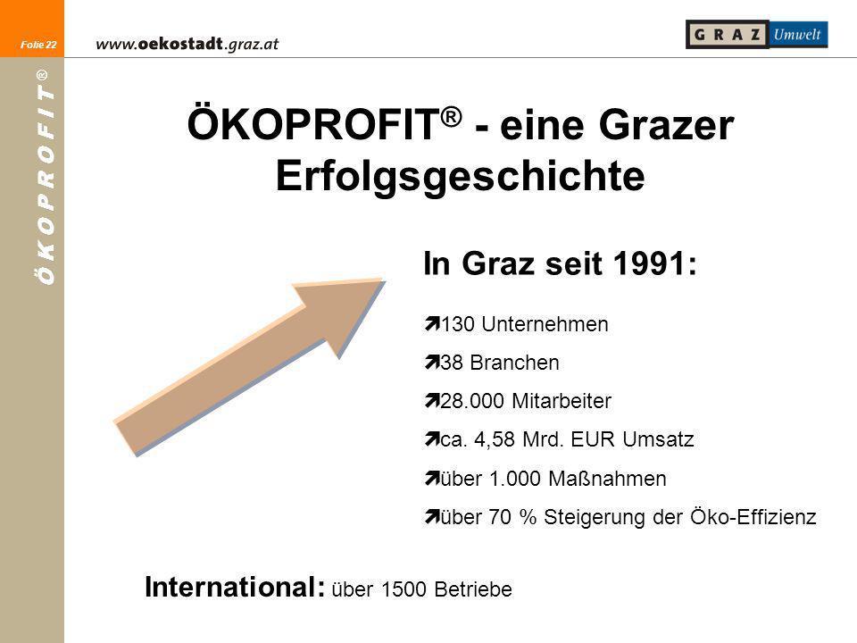 ÖKOPROFIT® - eine Grazer Erfolgsgeschichte