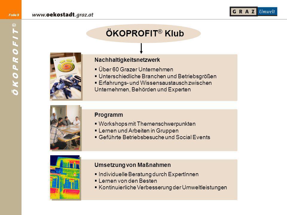 ÖKOPROFIT® Klub Nachhaltigkeitsnetzwerk Über 60 Grazer Unternehmen