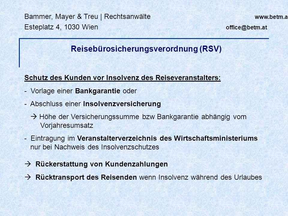 Reisebürosicherungsverordnung (RSV)