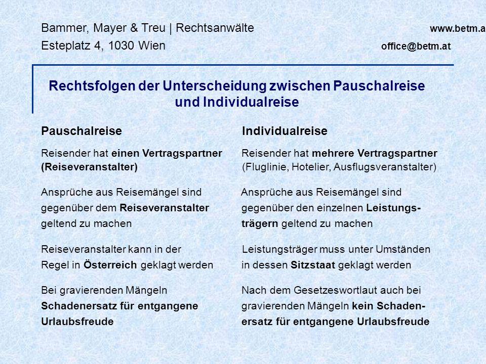 Bammer, Mayer & Treu | Rechtsanwälte www.betm.at