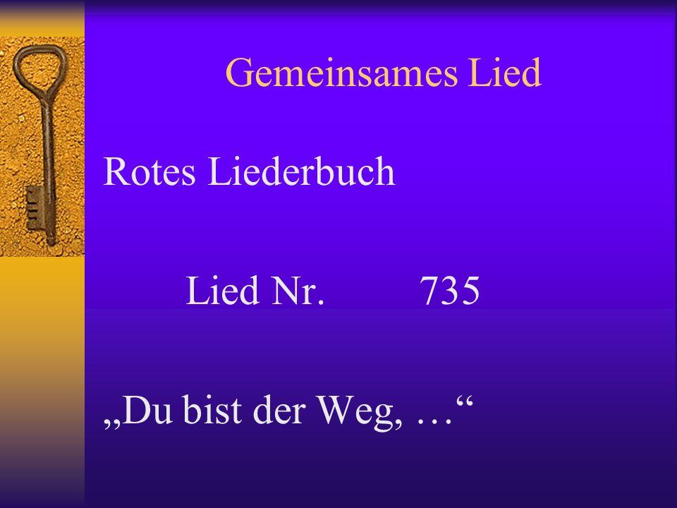 """Gemeinsames Lied Rotes Liederbuch Lied Nr. 735 """"Du bist der Weg, …"""