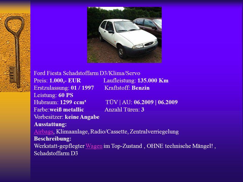 Ford Fiesta Schadstoffarm D3/Klima/Servo