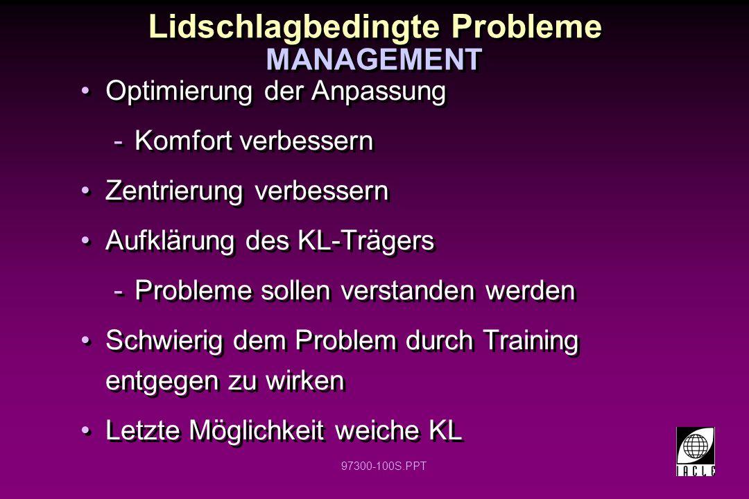 Lidschlagbedingte Probleme