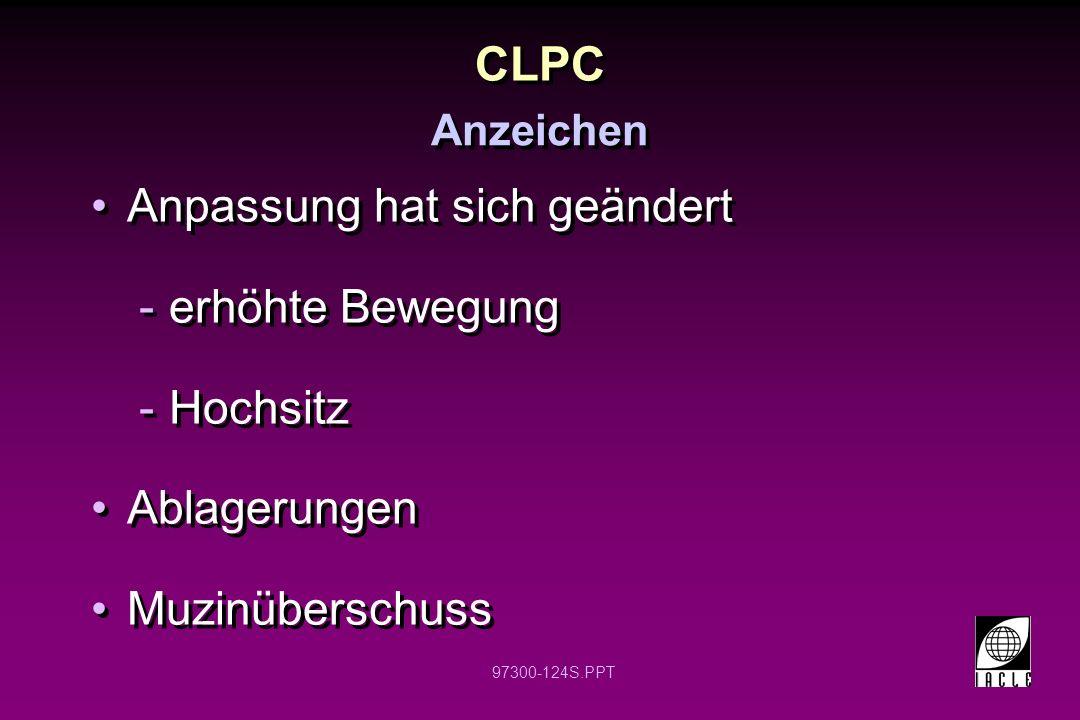 CLPC Anpassung hat sich geändert erhöhte Bewegung Hochsitz