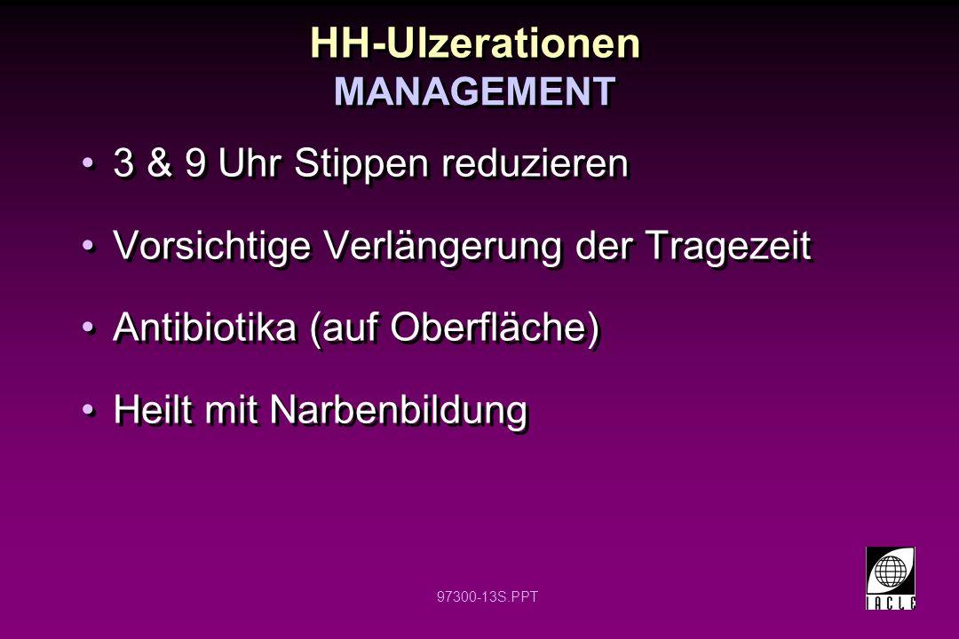 HH-Ulzerationen 3 & 9 Uhr Stippen reduzieren