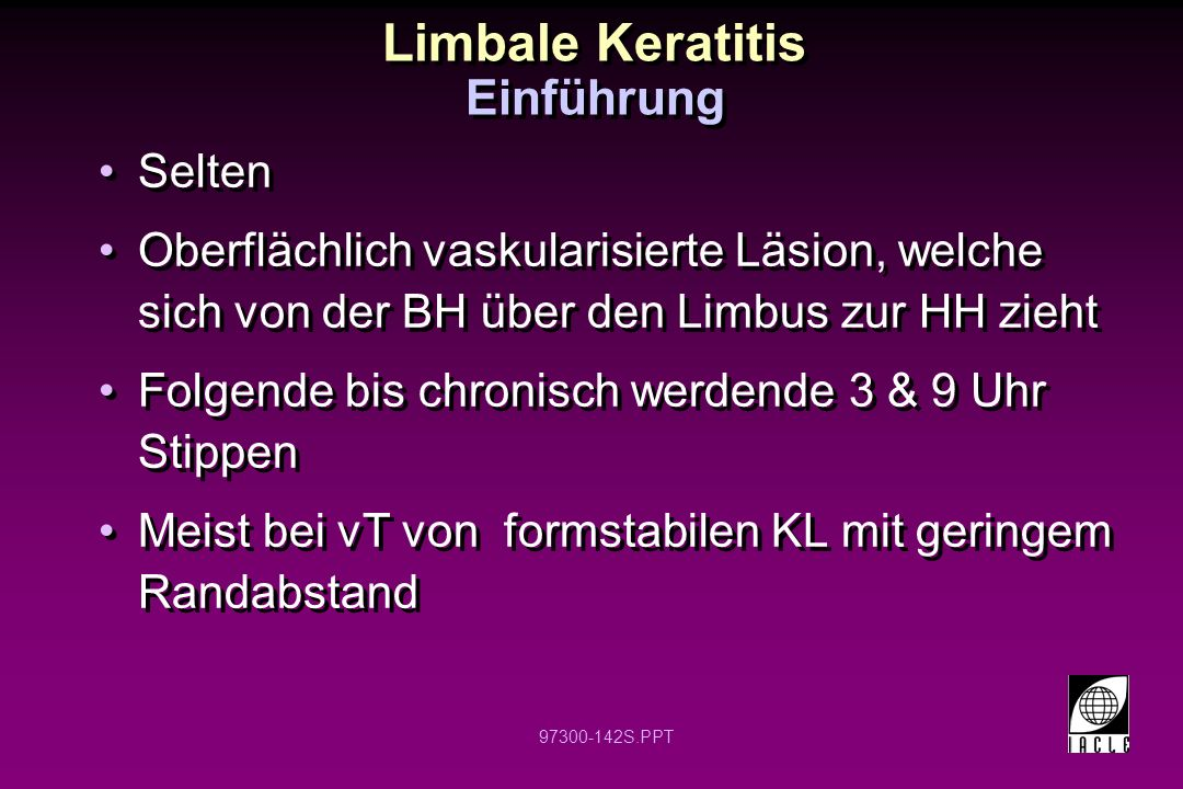 Limbale Keratitis Einführung