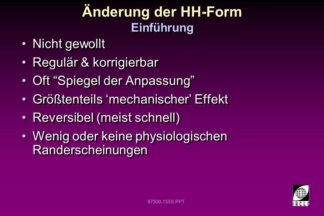 Änderung der HH-Form Einführung