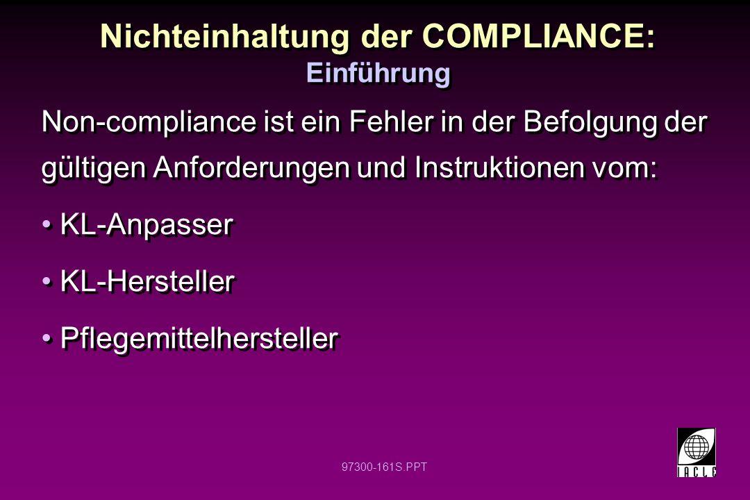 Nichteinhaltung der COMPLIANCE: Einführung