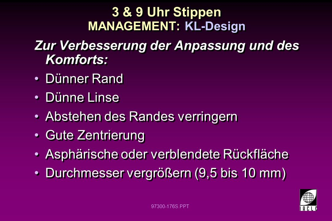 3 & 9 Uhr Stippen MANAGEMENT: KL-Design