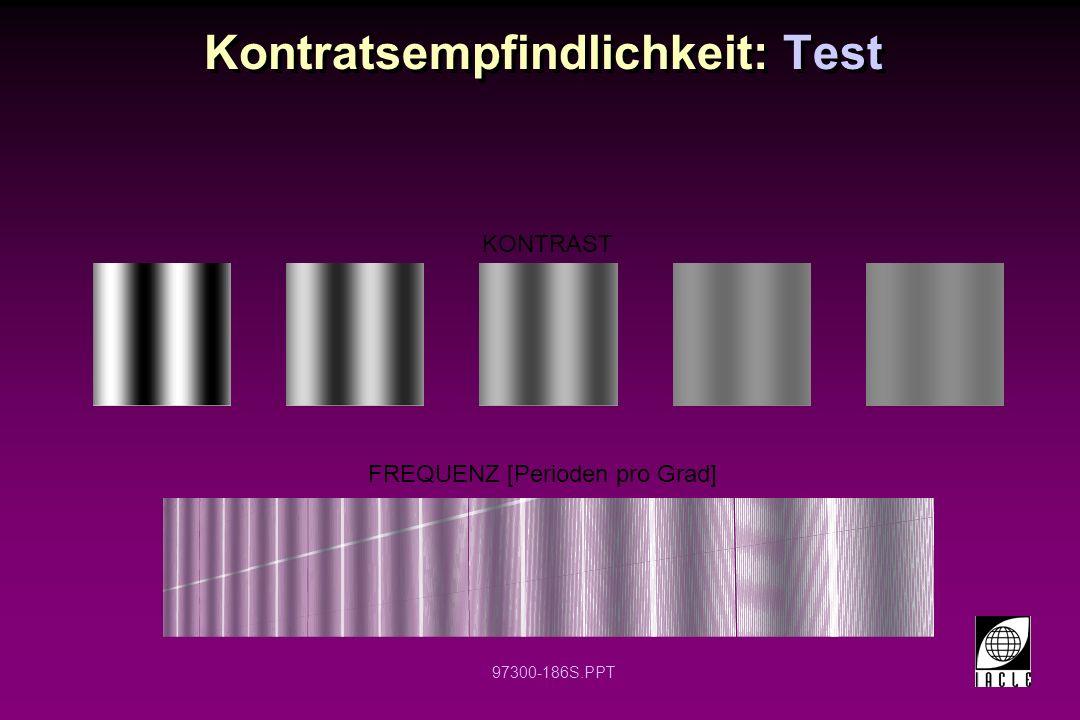 Kontratsempfindlichkeit: Test