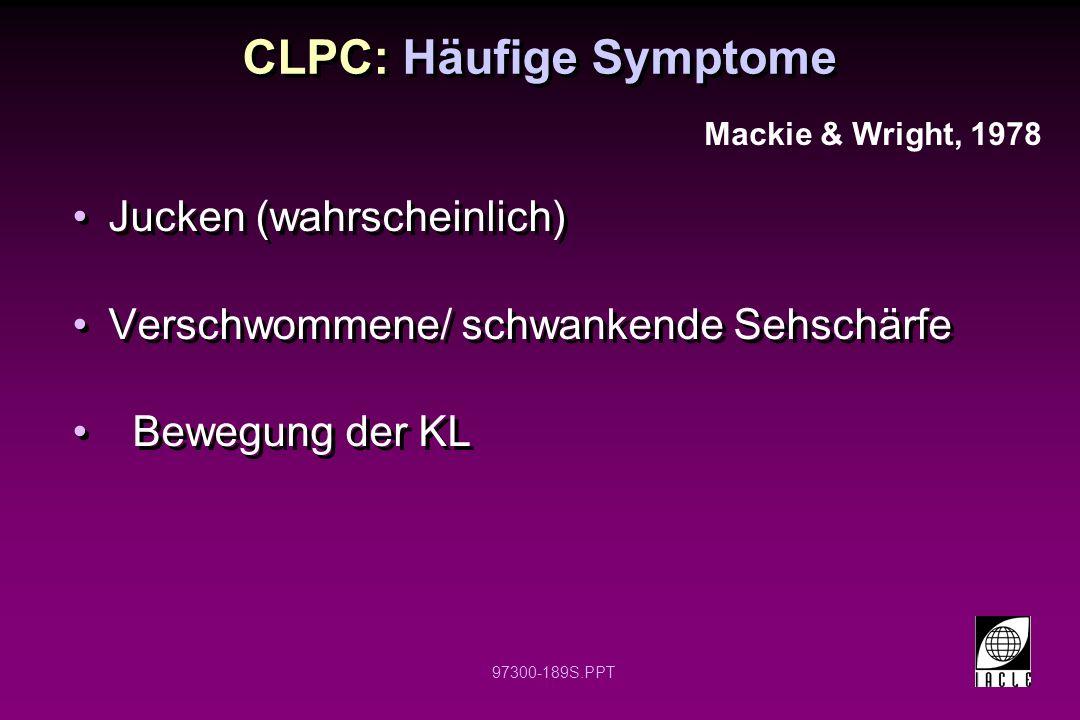 CLPC: Häufige Symptome