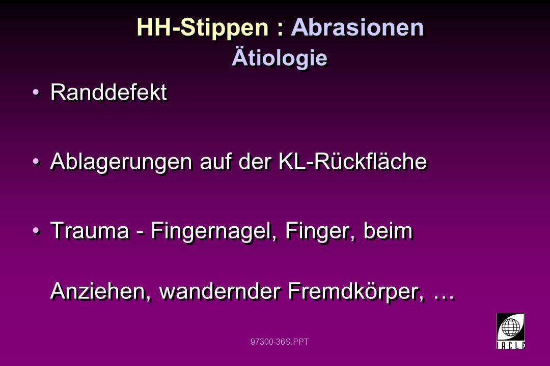 HH-Stippen : Abrasionen