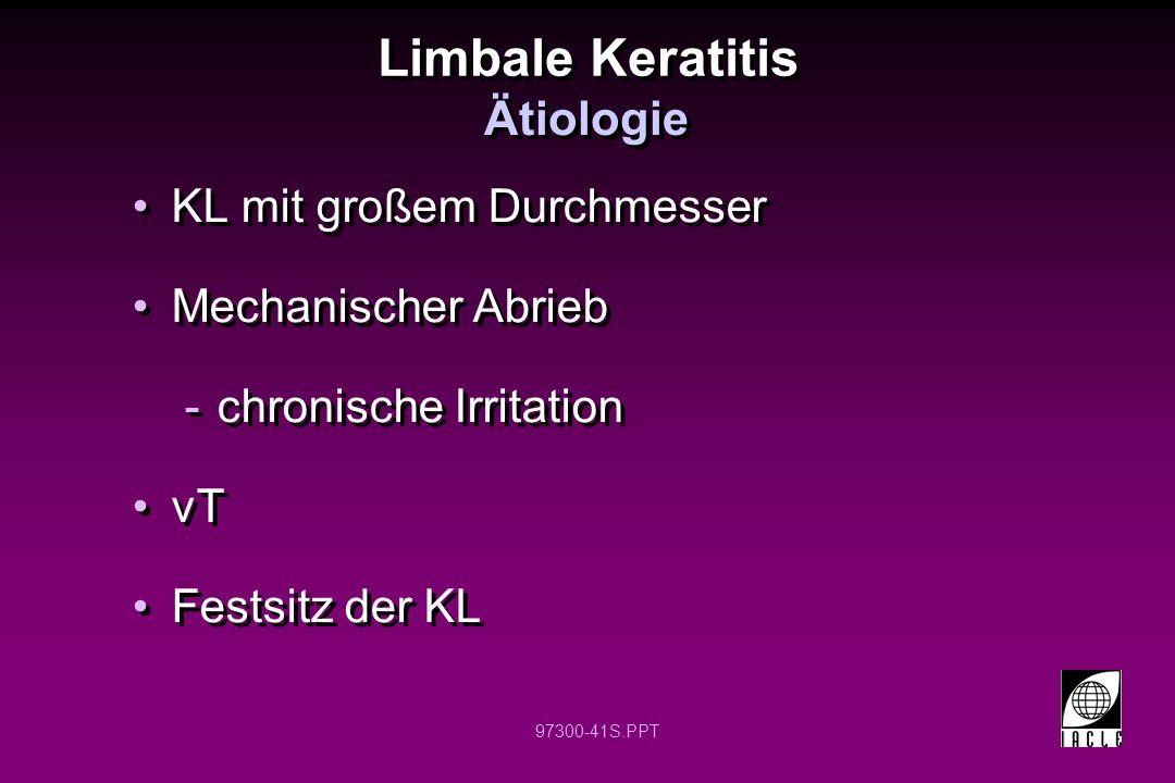 Limbale Keratitis Ätiologie KL mit großem Durchmesser