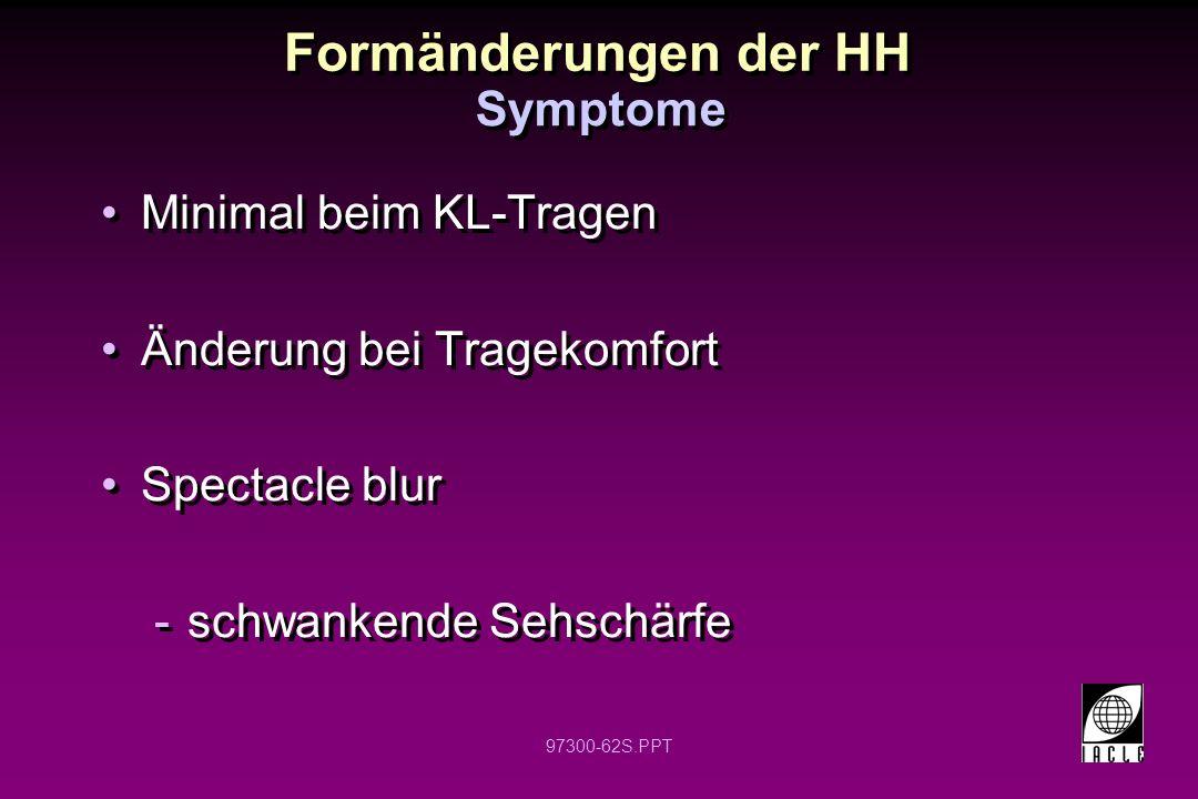 Formänderungen der HH Symptome Minimal beim KL-Tragen