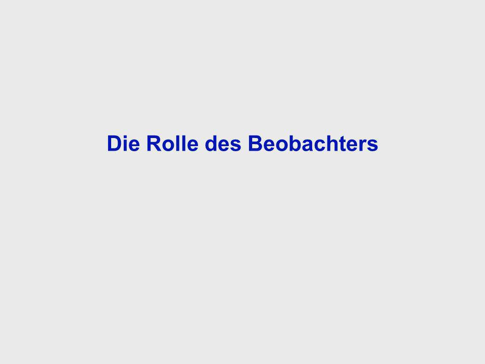 Die Rolle des Beobachters