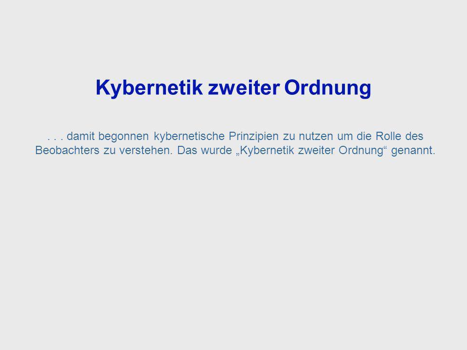Second Order Cybernetics