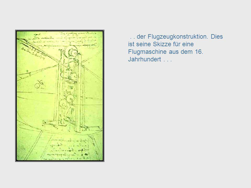 Da Vinci, cont. – Aeronautical Engineering