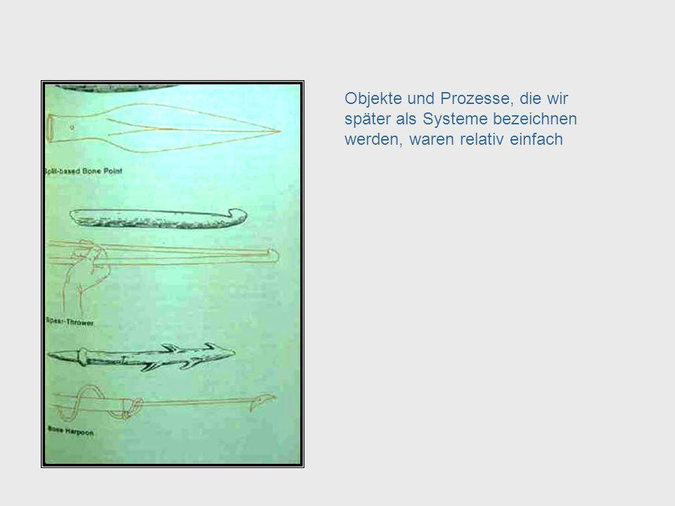 Objects & Processes Objekte und Prozesse, die wir später als Systeme bezeichnen werden, waren relativ einfach.