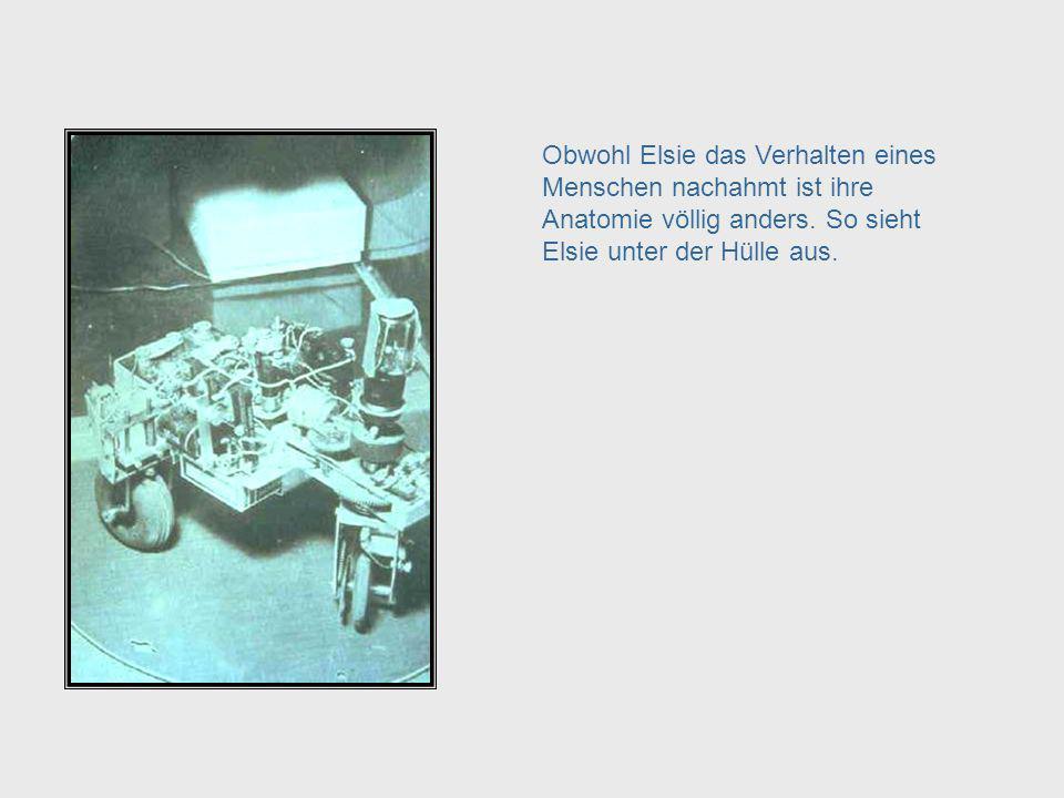 The Anatomy of Elsie Obwohl Elsie das Verhalten eines Menschen nachahmt ist ihre Anatomie völlig anders. So sieht Elsie unter der Hülle aus.