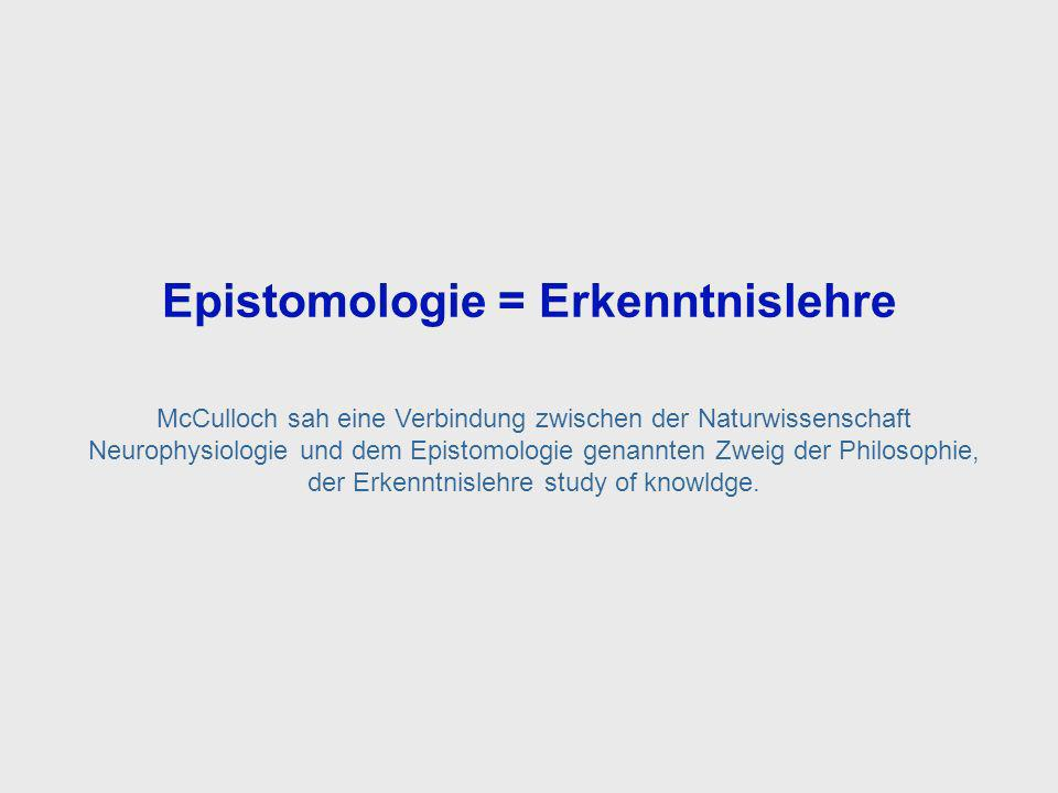 Epistemology = Study of Knowledge