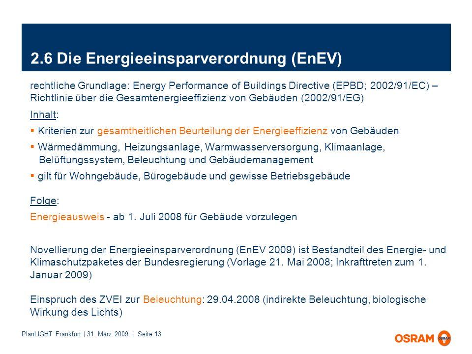 2.6 Die Energieeinsparverordnung (EnEV)