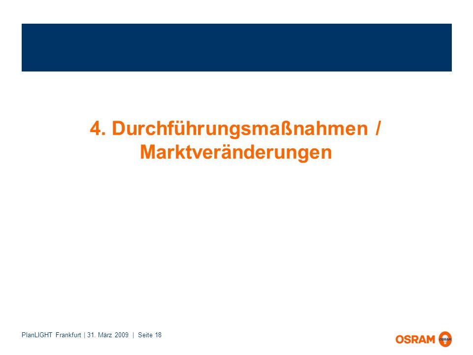 4. Durchführungsmaßnahmen / Marktveränderungen