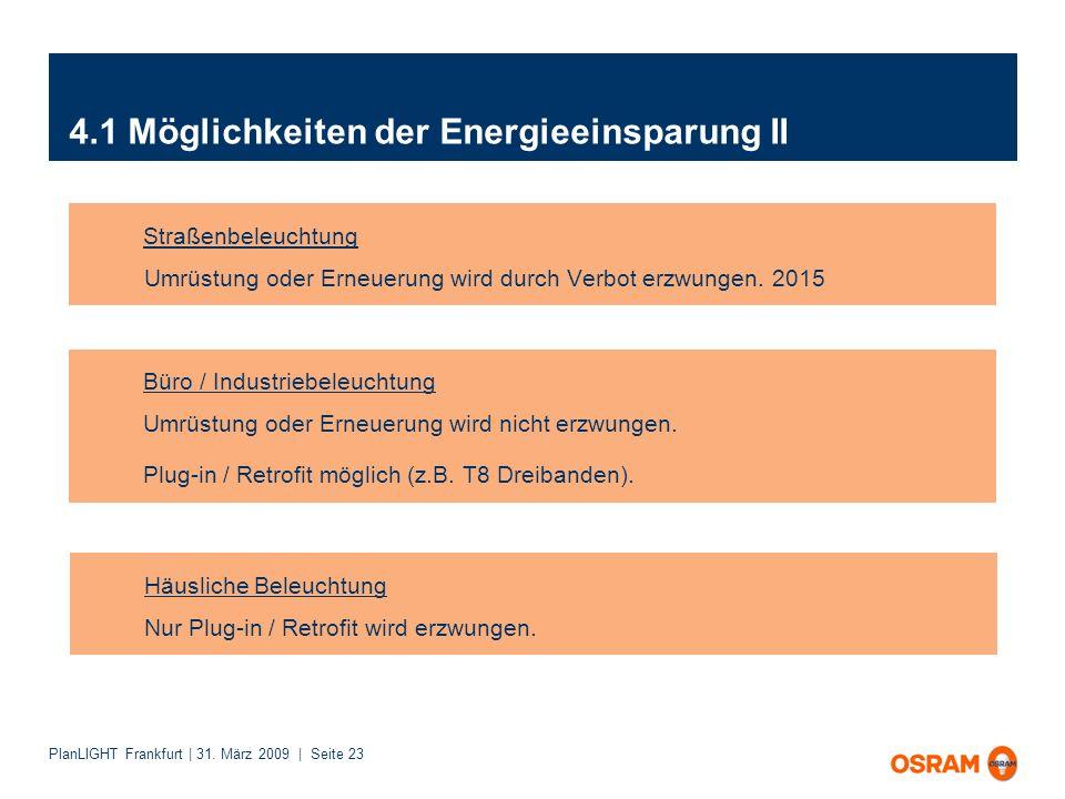 4.1 Möglichkeiten der Energieeinsparung II