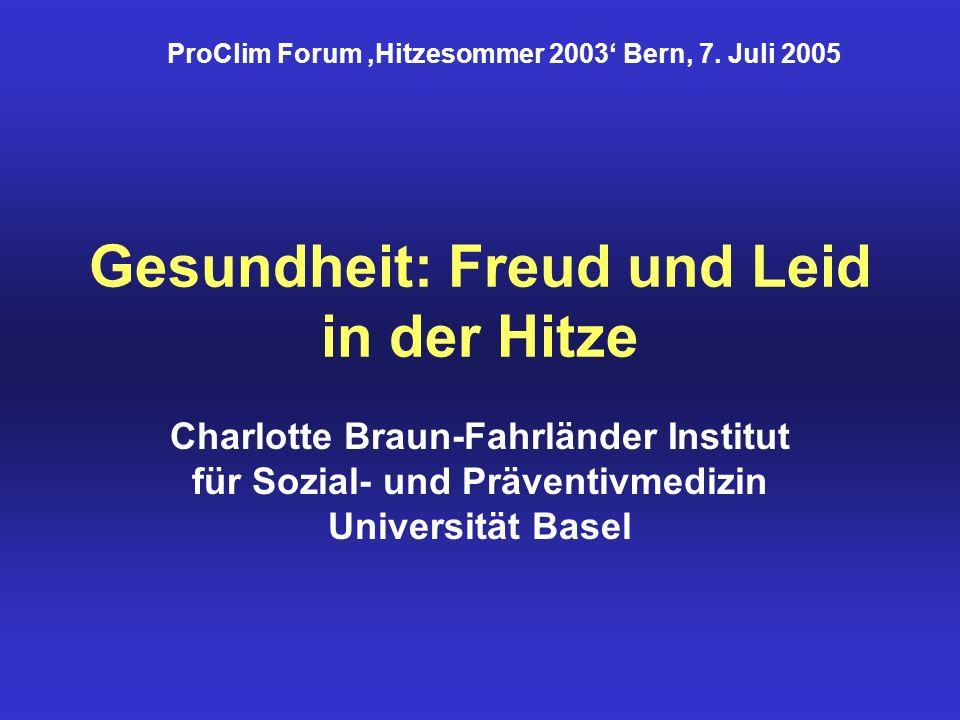 Gesundheit: Freud und Leid in der Hitze