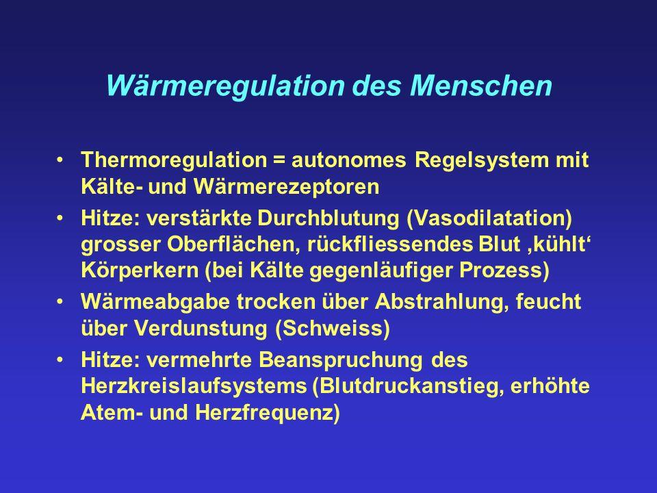 Wärmeregulation des Menschen