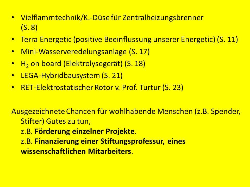 Vielflammtechnik/K.-Düse für Zentralheizungsbrenner (S. 8)